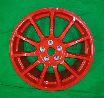 "New Genuine Renault Megane RS265 TROPHY 19"" Inch Speedline Wheel - RED ""TURINI"""